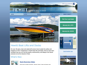 Hewitt Roll-A-Dock Website